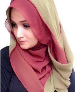 Two Tone Hijabs
