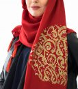 Diamante Hijab - Red- Hidden Pearls
