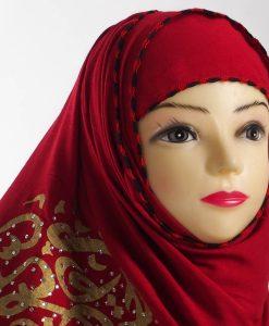 Diamante Red Hijab