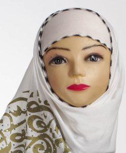 Diamante White Hijab