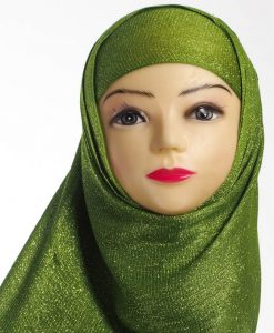Islamic Green Shimmer Hijab