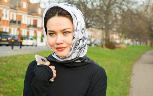 Turkish Hijab Black & White