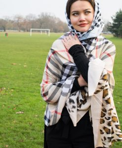 Turkish Hijab Polka Dot Black & White