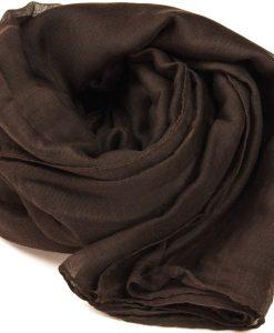 Chocolate Brown Plain Hijab