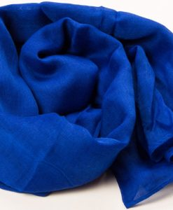 Royal Blue Plain Hijab