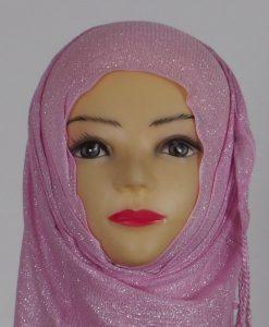 Baby Pink Shimmer Hijab