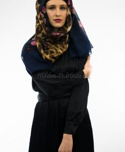 Butterfly Hijab Midnight Blue Mix 2