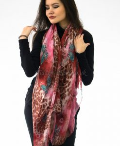 Butterfly Scarf Russet & Brown