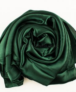 green-plain-silk