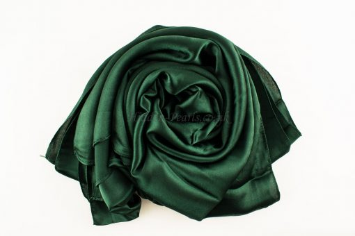 green-plain-silk