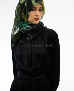 Leopard Print Hijab Sea Green