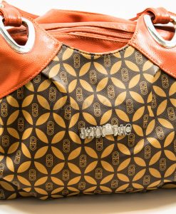 orange-brown shoulder bag