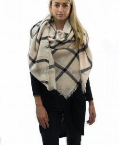 Square scarf white 2