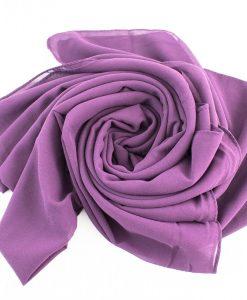 Chiffon Hijab Plum 4