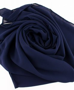 Chiffon Plain Navy Blue 3