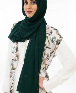 veryday Chiffon Hijab - Forest Green - Hidden Pearls