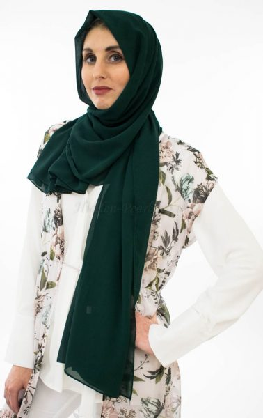 veryday Chiffon Hijab - Forest Green - Hidden Pearls