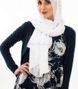 Everyday Chiffon Hijab - White - Hidden Pearls 2