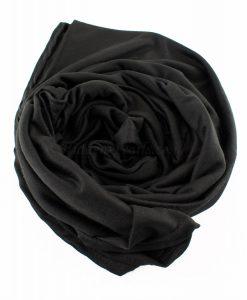 Jersey Plain Black Hijab 4