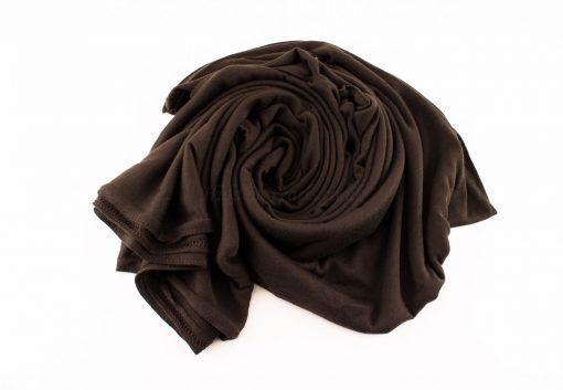 Jersey Plain Chocolate Hijab 3