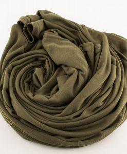 Jersey Plain Olive Hijab 4