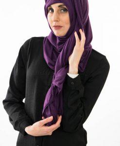 Jersey Plain Hijab - Purple - Hidden Pearls 3