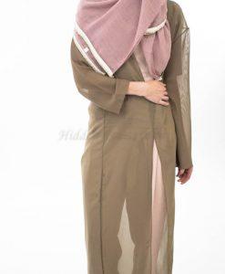 Pearl & Lace Hijab - Dusty Pink - Hidden Pearls
