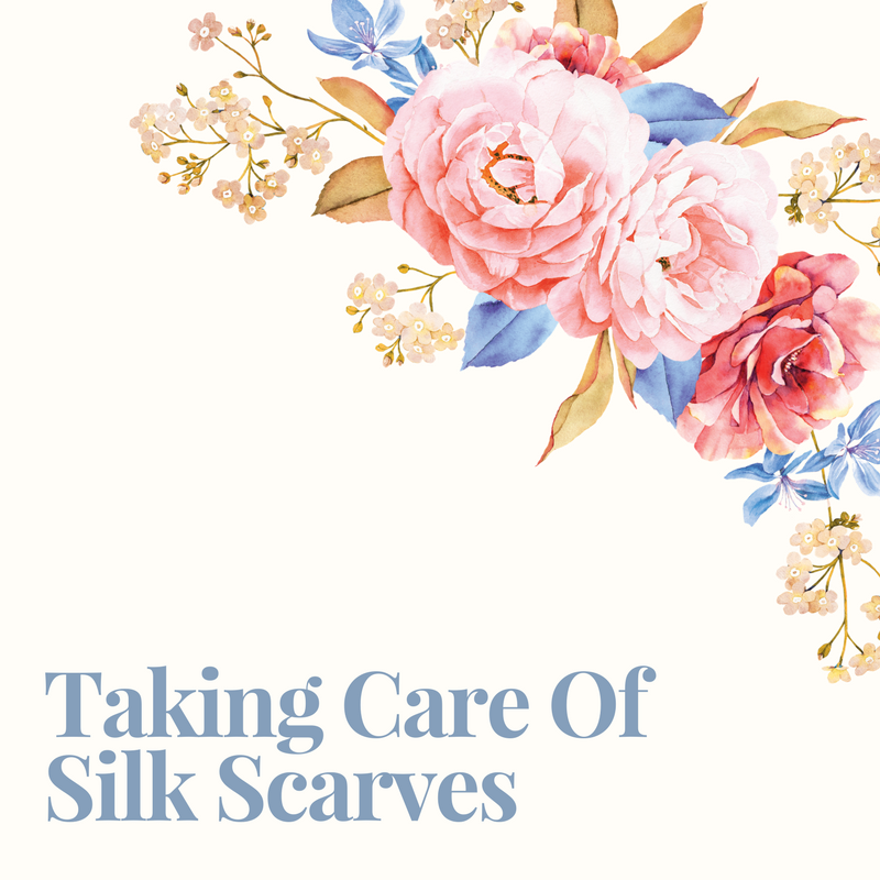 Taking care of silk scarves banner