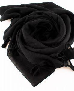 Tassels Black Hijab 2