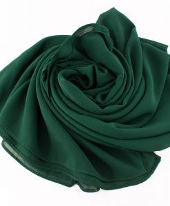 Deluxe chiffon forest green 2