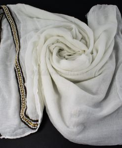 Zirconia & Pearl Hijab White 2