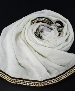 Zirconia & Pearl Hijab White 5