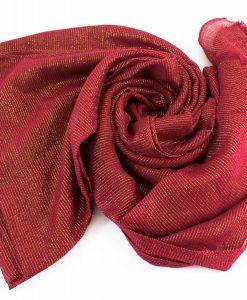 Occasion Shimmer Hijab Burgundy