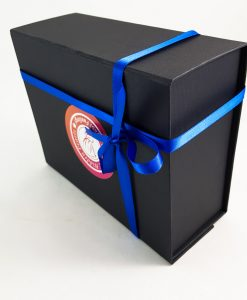 Small Black Islamic Gift Box Packaging with Royal Blue Ribbon - Islamic Gifts