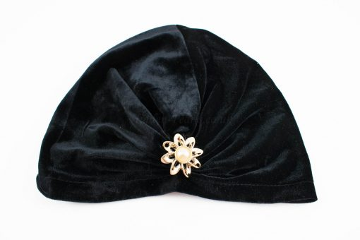 Turban Black With Brooch