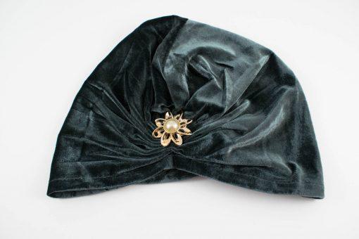 Turban Dark Grey With Brooch