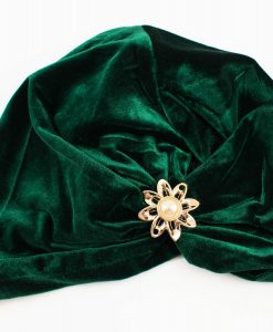 Turban Green with Brooch