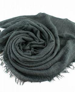 Crimp Hijab Dark Grey 2