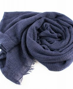 Crimp Hijab Denim Blue