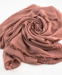 Crimp Hijab Dusty Pink 2