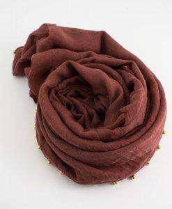 Pearl & Lace Hijab Rust