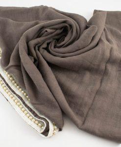 Pearl & Lace Hijab Stone Grey 2