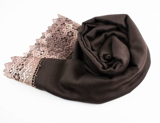 Crochet Lace Hijab Chocolate 3