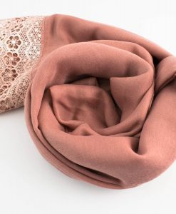 Crochet Lace Hijab Dusty Pink 5