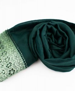 Crochet Lace Hijab Forest Green 3