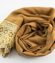 Crochet Lace Hijab Golden Brown 3