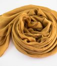 Deluxe Plain Hijab Golden Tan3