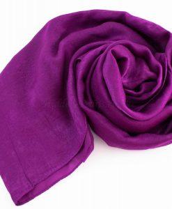 Deluxe Plain Hijab Purple 2