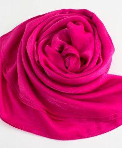 Deluxe Plain Hijab Shocking Pink 2