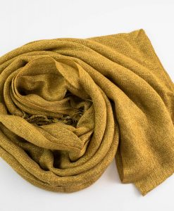Shimmer Hijab Deep Gold 2
